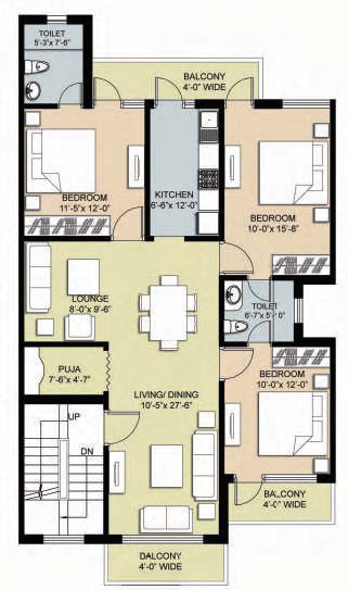 Ambrosia omaxe chandigarh 1st and 2nd floor layout plan by property masterz