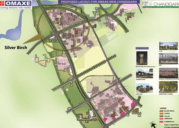 Ambrosia omaxe chandigarh layout