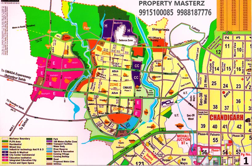 NEW CHANDIGARH LOCATION MAP OF ECOCITY